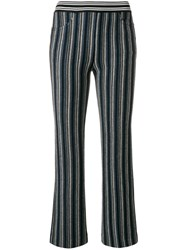 Missoni Cropped Trousers Viscose Wool Blue