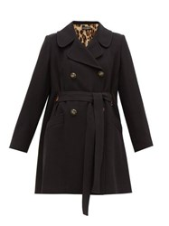 Dolce And Gabbana Double Breasted Belted Coat Black