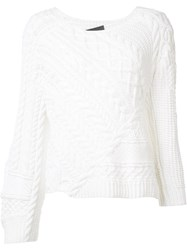 Baja East Off Shoulder Jumper White