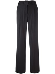 Courreges Straight Leg Trousers Blue