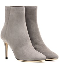 Jimmy Choo Duke 85 Suede Ankle Boots Grey