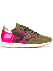 Philippe Model Camouflage Detail Sneaker Green