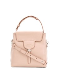Tod's Textured Tote Bag Neutrals