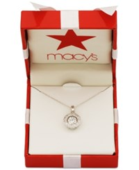 Giani Bernini Fluttering Cubic Zirconia Pendant Necklace In 18K Gold Plated Sterling Silver Only At Macy's