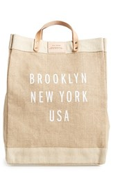 Apolis City Market Tote Brown Brooklyn Natural