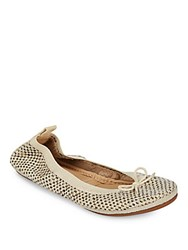 Yosi Samra Dress Foldable Woven Flats Biscotti