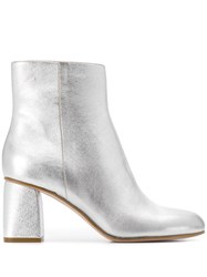 Red Valentino V Metallic Ankle Boots Silver
