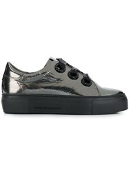 Kennel Schmenger And Metallic Platform Sneakers Silver