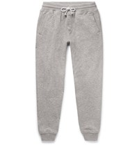 Brunello Cucinelli Slim Fit Tapered Cashmere Blend Sweatpants Gray