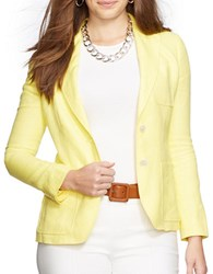 Lauren Ralph Lauren Plus Linen Blazer Yellow