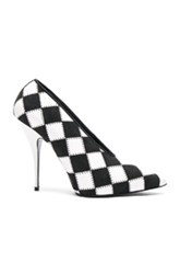 Stella Mccartney Checkered Print Heels In Black White Checkered And Plaid Black White Checkered And Plaid