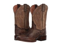 Dan Post Turner Chocolate Bone Leather Cowboy Boots Brown