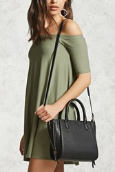 Forever 21 Faux Leather Crossbody Satchel
