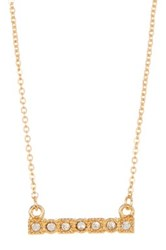 Stephan And Co Dainty Crystal Pave Bar Necklace Black