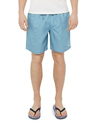 Ted Baker Mobbsho Mini Geo Swim Trunks Teal