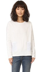 Chinti And Parker Star Pocket Tee Off White