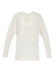Vince V Neck Wool And Cashmere Blend Sweater