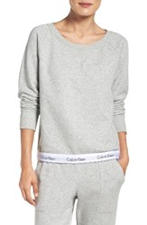 Calvin Klein Women's Lounge Sweatshirt Grey Heather