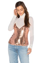 Free People Sassy Sequins Cami Metallic Copper