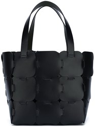 Paco Rabanne Patchwork Shopper Tote Black
