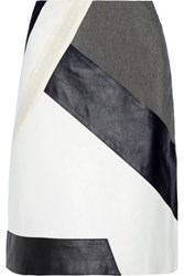 Jonathan Simkhai Riot Leather Paneled Skirt White