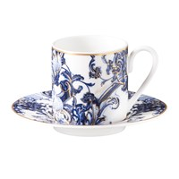 Roberto Cavalli Azulejos Coffee Cup And Saucer