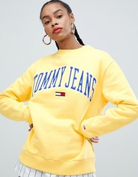 Tommy Jeans Collegiate Logo Sweatshirt Yellow