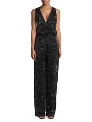 Mandalay Sequin Jumpsuit Black Silver