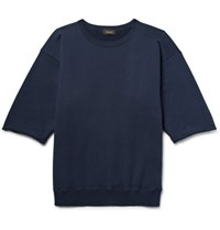 Chimala Loopback Cotton Jersey Sweatshirt Navy