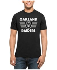 47 Brand '47 Men's Oakland Raiders Two Bar Splitter T Shirt Black