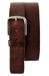 Men's Big And Tall Trafalgar 'Winslow' Leather Belt Brown