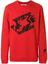 Damir Doma Printed Sweatshirt Red