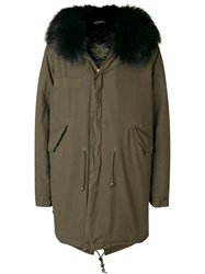 Mr And Mrs Italy Trimmed Hooded Parka Green