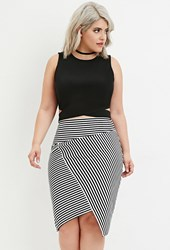 Forever 21 Plus Size Side Cutout Crop Top Black