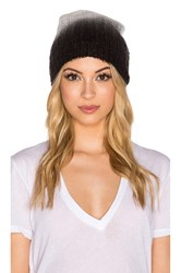 Michael Stars Laced Knit Ombre Slouch Hat Black And White