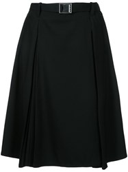 Christophe Lemaire Wrapover Skirt Women Virgin Wool 36 Black