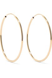 Loren Stewart Infinity 14 Karat Gold Hoop Earrings One Size