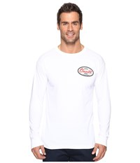 O'neill Backyard Long Sleeve Screen Tee Imprint White Men's T Shirt