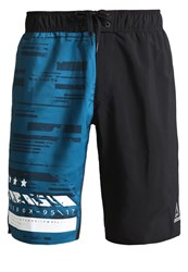 Reebok Sports Shorts Black Emerald Tide