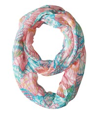 Lilly Pulitzer Mini Riley Infinity Loop Multi Oh Shello Small Scarves Pink