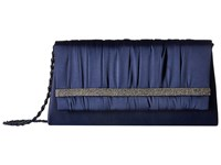 Nina Locklin Navy Silver Clutch Handbags Blue