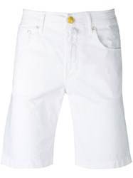 Jacob Cohen Chino Shorts Men Cotton Elastodiene 33 White