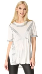 Herve Leger Short Sleeve T Shirt Alabaster Combo