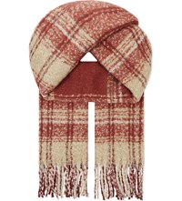 Free People Tartan Scarf Red