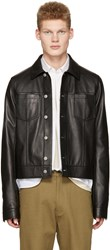 Maison Martin Margiela Black Leather Trucker Jacket