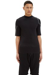 Y 3 Sport Mock Neck Merino T Shirt Black