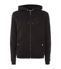 Versace Collection Studded Trim Zip Sweater Male