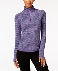 Ideology Quarter Zip Ombre Top Only At Macy's Glacial Space Dye