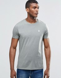 Asos T Shirt With Logo And Crew Neck In Green Ball Green Marl
