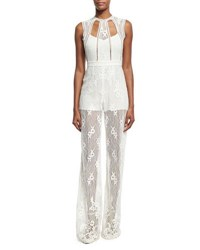 Alexis Naya Wide Leg Lace Jumpsuit White